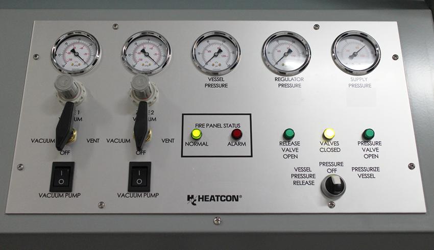 HCS3100 RepairClave, Gauge Panel, HEATCON Composite Systems,
