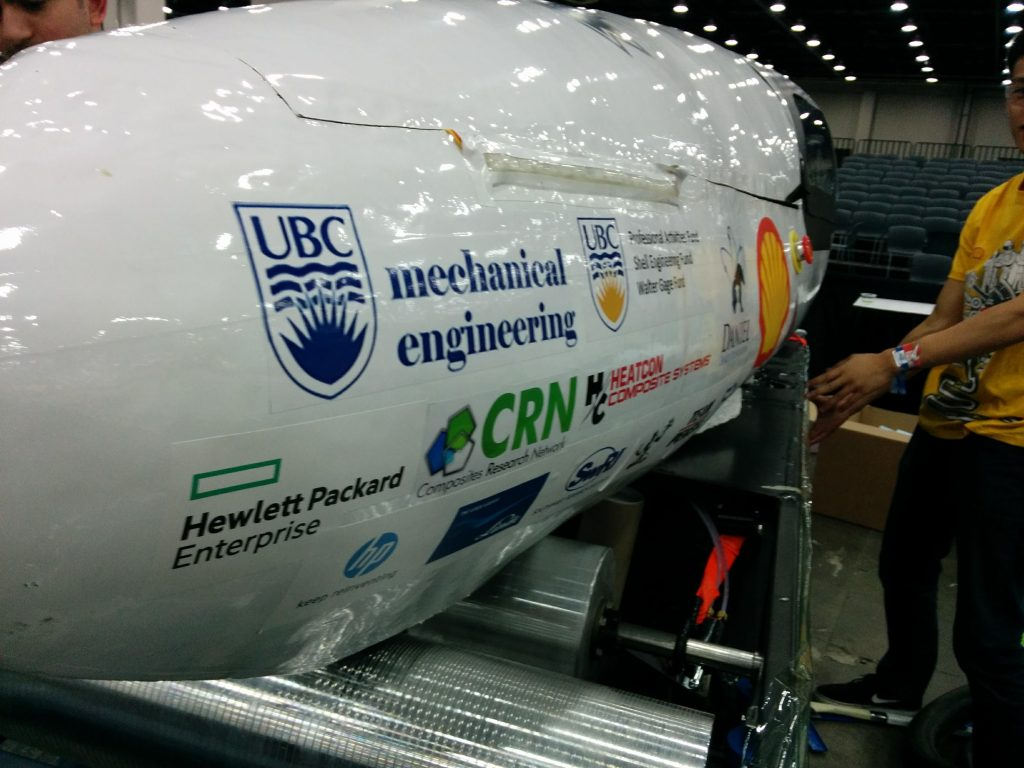 Prototype vehicle getting tuned on the chassis dynamometer, UBC Supermileage, HEATCON Composite Systems, Nomex Honeycomb